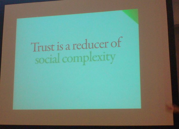 """Trust is a reducer of social complexity"" by Pelle Sten"